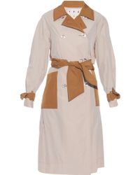 Trademark - Contrast-trim Double-breasted Trench Coat - Lyst