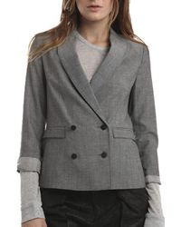 Rag & Bone Double Breasted Nancy Blazer gray - Lyst