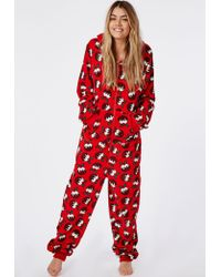Missguided Fleece Christmas Pudding Onesie - Lyst