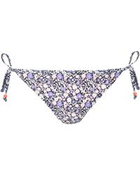 Jane Norman Ditsy Floral Triangle Bikini Bottoms - Lyst