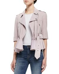 French Connection Soft Suede Tie-Waist Jacket - Lyst