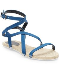 Tibi Melia Silk Faille Espadrille Sandals - Lyst