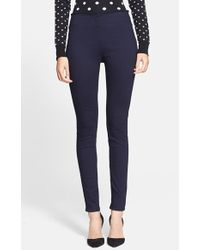 Veronica Beard Seam Detail Denim Leggings - Lyst