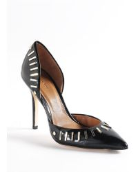 Rachel Roy Aria Embellished Leather Dorsay Pumps - Lyst
