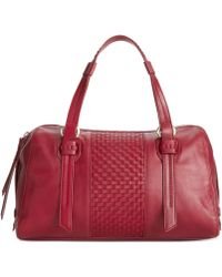 Cole Haan Red Brennan Satchel - Lyst