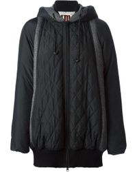 Isola Marras - Panelled Quilted Coat - Lyst