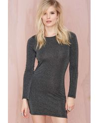 Nasty Gal After Party Vintage Sparks Fly Metallic Dress - Lyst