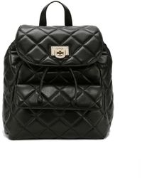 DKNY Quilted Leather Top Flap Backpack - Lyst