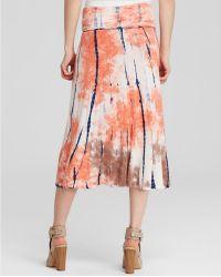 Cirana - Tie Dye Fold Over Midi Skirt - Lyst