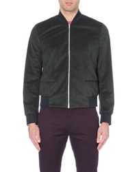 Paul Smith Alcantara Faux-suede Bomber Jacket - For Men - Lyst