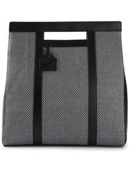 Vionnet Black Satin Shopper - Lyst