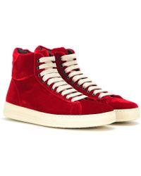 Tom Ford - Velvet High-top Sneakers - Lyst