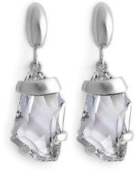 Kenneth Jay Lane - Crystal Drop Earrings - Lyst