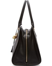 Alexander McQueen Black Leather Padlock Duffle Bag - Lyst