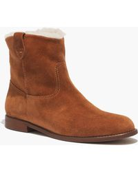 Madewell The Otis Boot in Shearling - Lyst