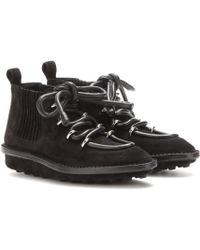 Balenciaga Snow Suede Ankle Boots - Lyst