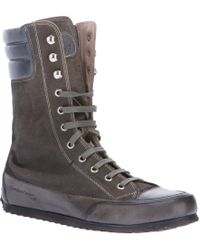 Candice Cooper - Lace-Up Suede Boxing Boots - Lyst