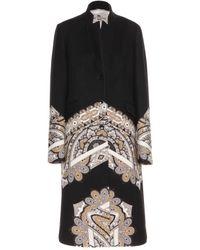 Etro Wool Coat - Lyst