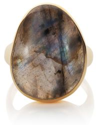 Caroline Creba - 18ct Gold Plated Sterling Silver 12ct Labradorite - Lyst