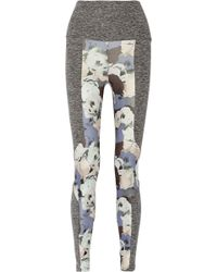 Live The Process Paneled Printed Stretch-Jersey Leggings - Lyst