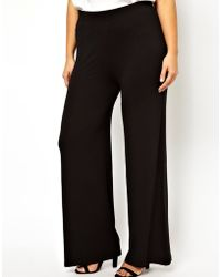 Asos Curve Pant With Wide Leg - Lyst