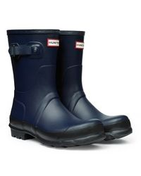 Hunter Original Two Tone Short Wellington Boots - Lyst