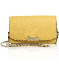 Burberry Madison Small Pebbled Leather Chain Clutch yellow - Lyst