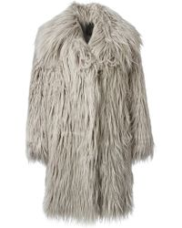 Lanvin Shaggy Faux-fur Coat - Lyst