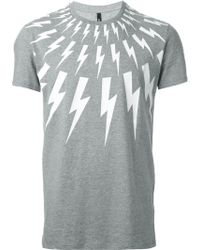 Neil Barrett Lightening Bolt T-Shirt - Lyst
