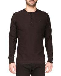 Diesel Long Sleeve T-Shirt - 00Sff900Kdyt-Niketas Shirt black - Lyst