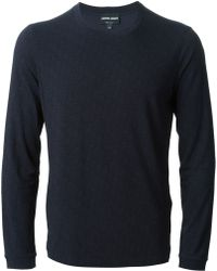 Giorgio Armani Crew Neck Patterned T-shirt - Lyst