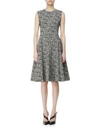 Narciso Rodriguez Digital-print Cotton A-line Dress - Lyst