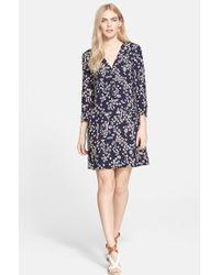 Tory Burch Women'S Print Hammered Silk A-Line Dress - Lyst
