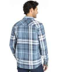 3rd & Army - Blue And White Plaid 'crossbar' Flannel Shirt - Lyst