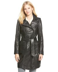 Lamarque | Leather Trench Coat | Lyst