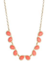 Kate Spade Pave Stone Necklace - Lyst