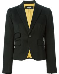 DSquared2 Black Fitted Jacket - Lyst