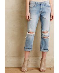 Current/Elliott The Highwaist Straight Jeans - Lyst