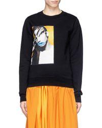 Acne Studios 'Vermina' Portrait Print Sweatshirt - Lyst