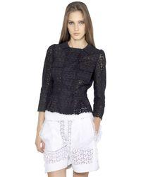 Nina Ricci Cotton San Gallo Laced Jacket - Lyst