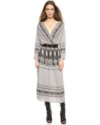 Free People She'S A Lady Dress - Ivory Combo - Lyst
