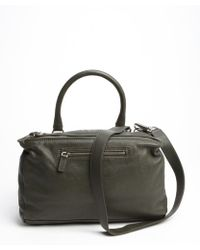 Givenchy Forest Green Leather Zipper Detail One Strap Shoulder Bag - Lyst