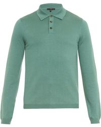 Gucci Silk And Cotton-Blend Polo Shirt - Lyst