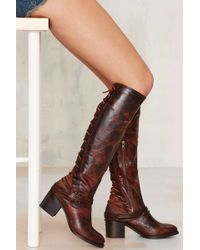 Freebird by Steven | Lace-up Leather Boot - Brown | Lyst