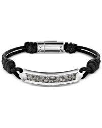 Swarovski - Men's Stainless Steel Crystal Acrylic Cord Bracelet - Lyst