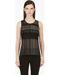 Helmut Lang Black Knit Static Jacquard Tank Top - Lyst
