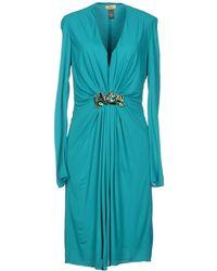 Issa Blue Short Dress - Lyst
