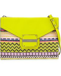 Milly Rich Patterned Jacquard Crossbody Bag - Lyst