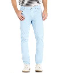Jeckerson Light Blue Johnny Slim Fit Pants - Lyst