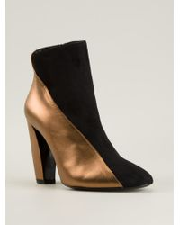 Pierre Hardy Metallic Panel Ankle Boots - Lyst